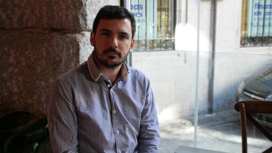 El economista Eduardo Garzón en Toledo. Francisca Bravo.