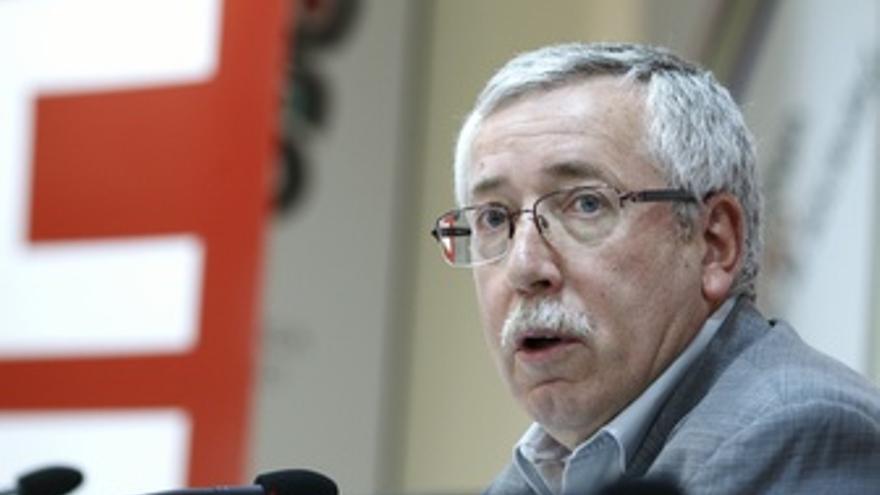 Ignacio Fernández Toxo Y Cándido Méndez Presentan Movilizaciones