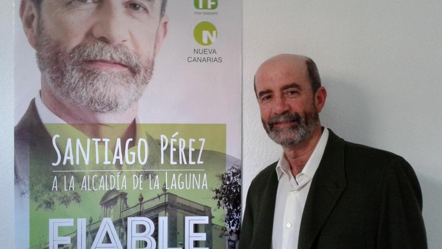 Santiago Pérez, candidato a la Alcaldía de La Laguna y al Parlamento regional por XTF-NC.