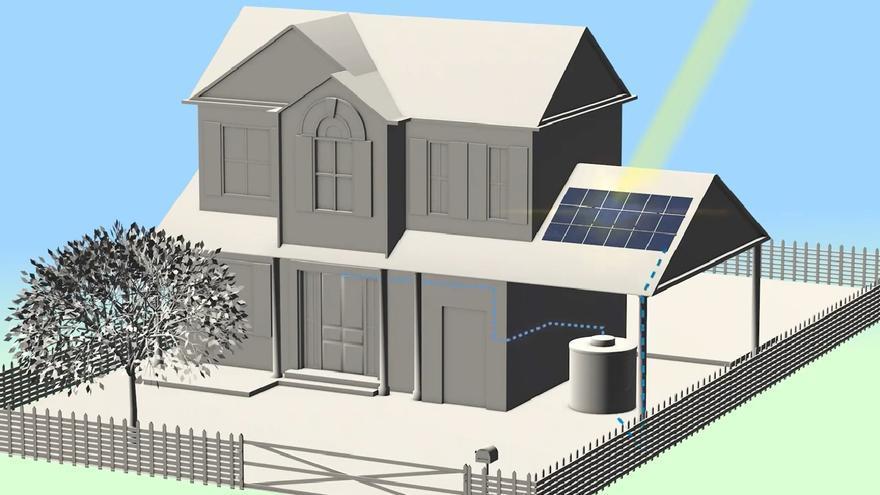 Diagrama del prototipo instalado en una vivienda.