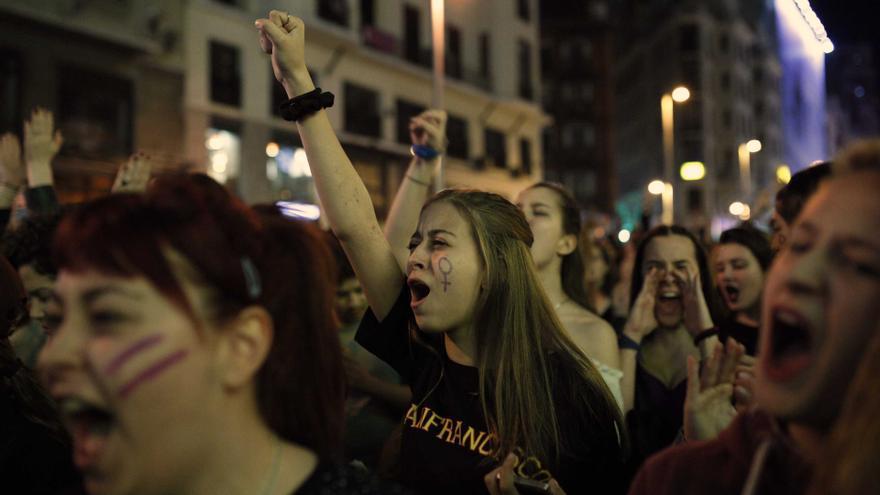 Un momento de la manifestación del 8M en Madrid / Olmo Calvo
