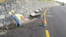 Obras en el tramo San Simón-Tajuya de la carretera LP-2.