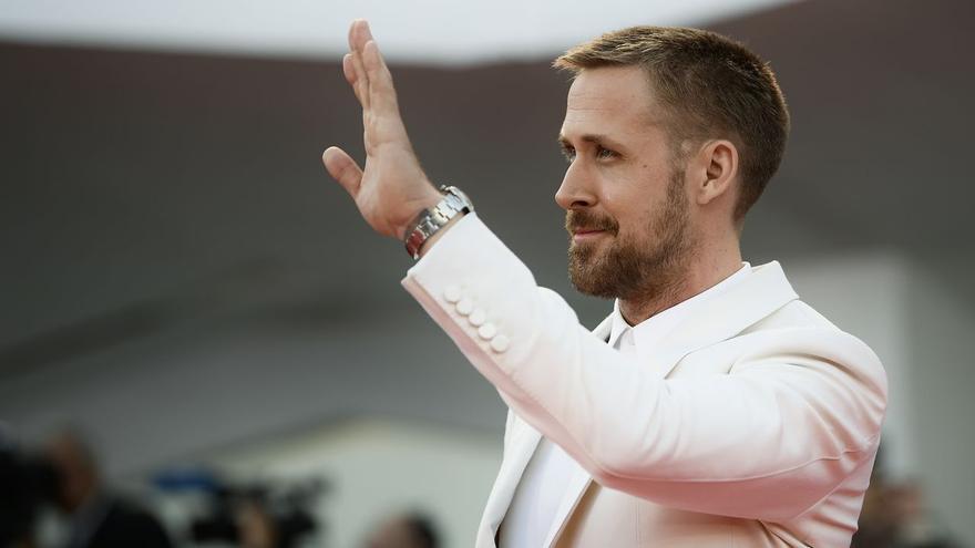 El actor Ryan Gosling, protagonista de 'First man', en la alfombra roja de la Mostra de Venecia