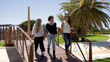 Las integrantes de Podemos Beatriz Mejías, Raquel León y Luz Ejarque.