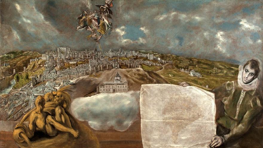 Vista y Plano de Toledo de El Greco