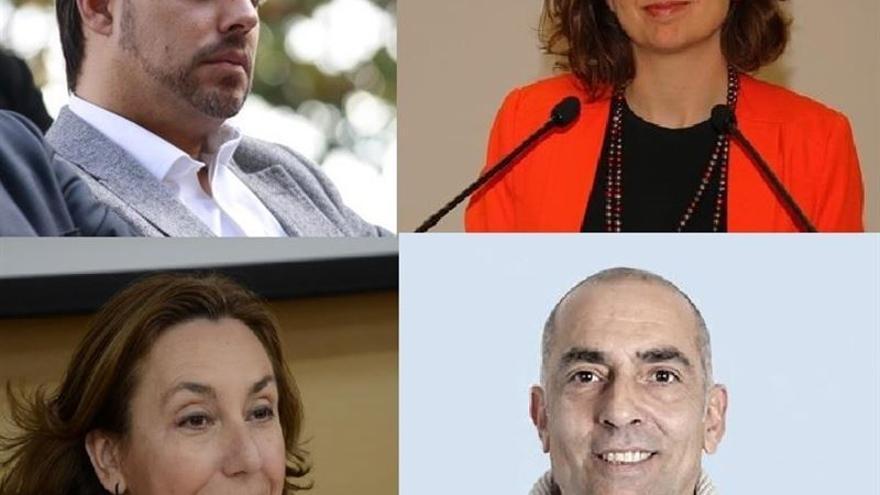 Los cuatro candidatos en Guadalajara