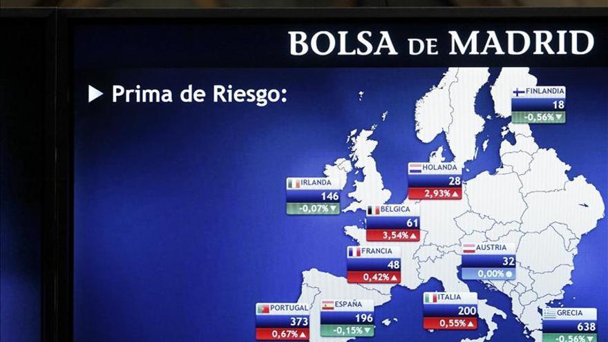 La prima de riesgo española cae a 191 puntos con el bono en el 3,79 por ciento