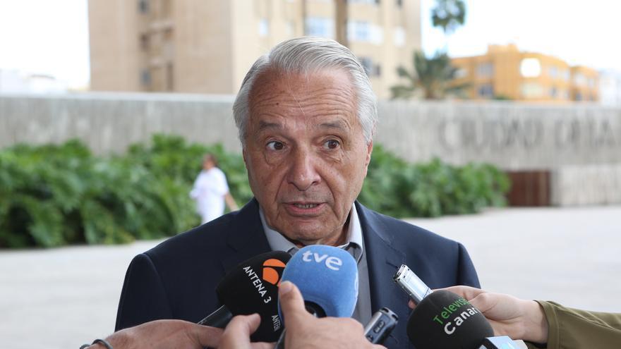 El exdiputado nacionalista José Carlos Mauricio a su llegada a la Ciudad de la Justicia de Las Palmas de Gran Canaria.