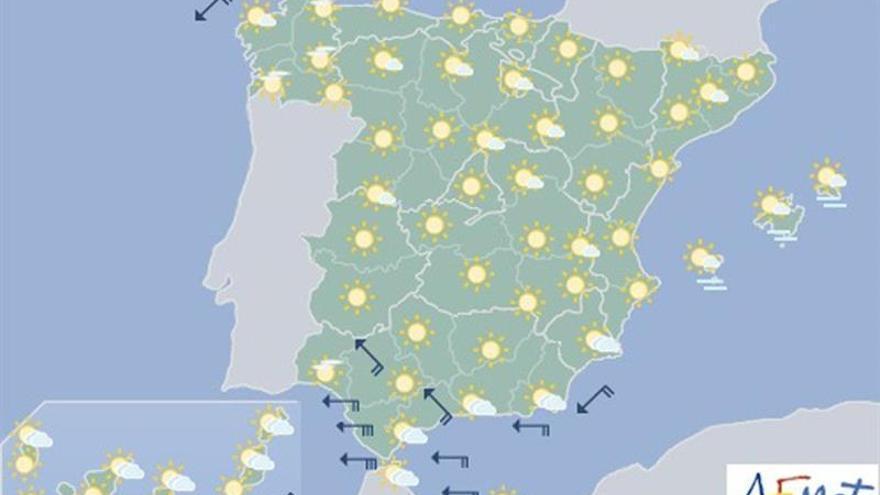 Hoy, siguen temperaturas altas y habrá viento fuerte en Estrecho y Cádiz