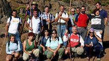 Miembros del Club de Caminantes Las Breñas.