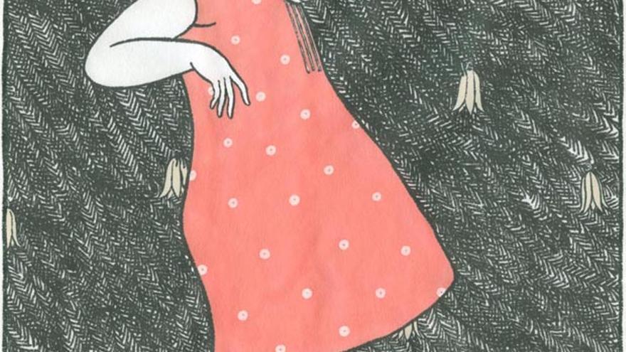 Ilustración de Elena Odriozola para el libro 'Eguberria. Tradiciones, canciones y cuentos navideños del País Vasco'.
