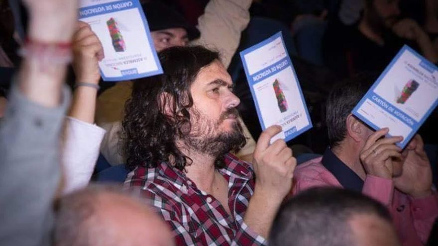 Antón Sánchez, en la asamblea nacional de Anova