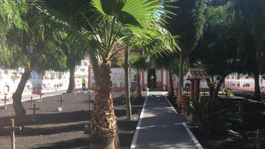 En la imagen, cementario municipal de Fuencaliente.