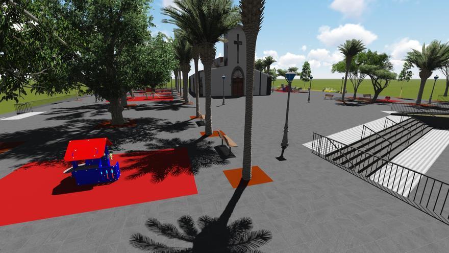 Infografía sobre cómo quedará el espacio público remodelado en El Fraile