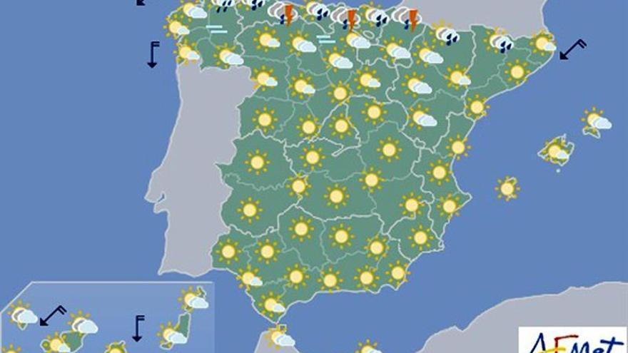 Posibilidad de tormentas en oeste de Castilla y León y norte de Extremadura