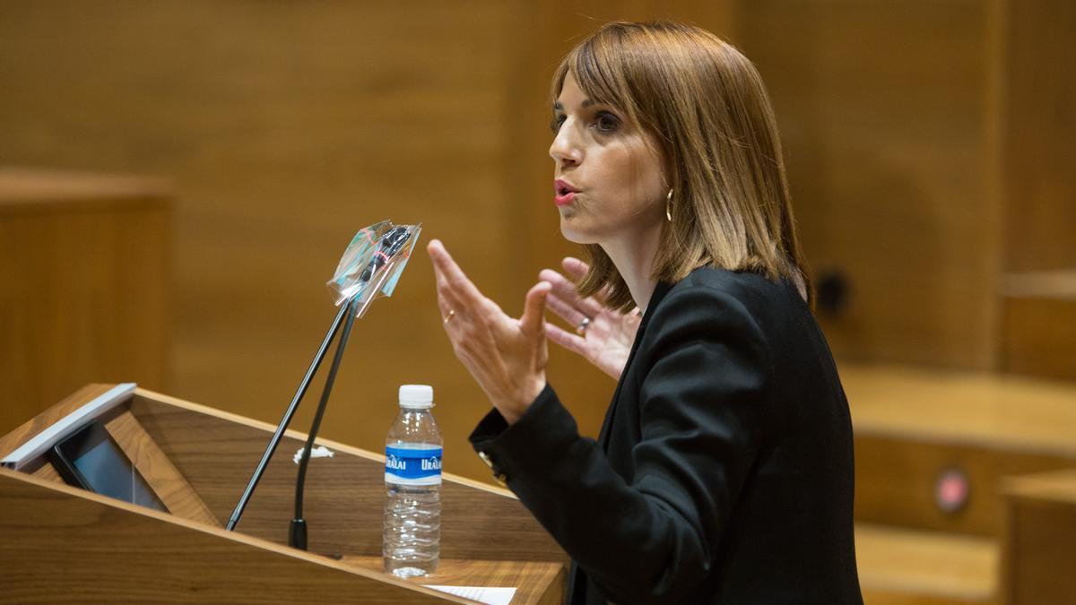María Jesús Valdemoros, de Navarra Suma, en el Parlamento foral