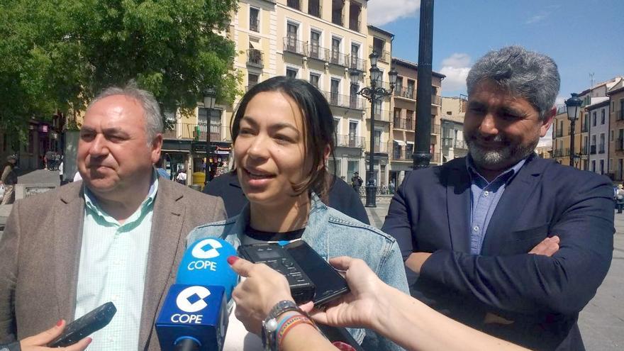 Vicente Tirado, Claudia Alonso y Juan José Cortes en Toledo