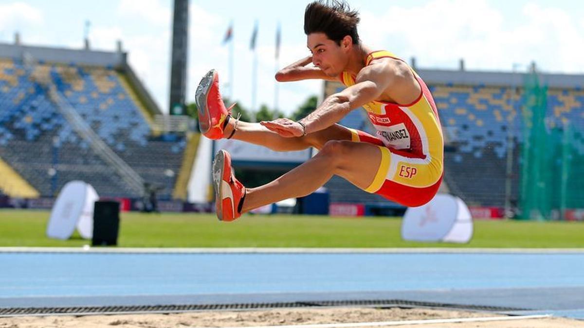 Carlos Pérez durante la competición.