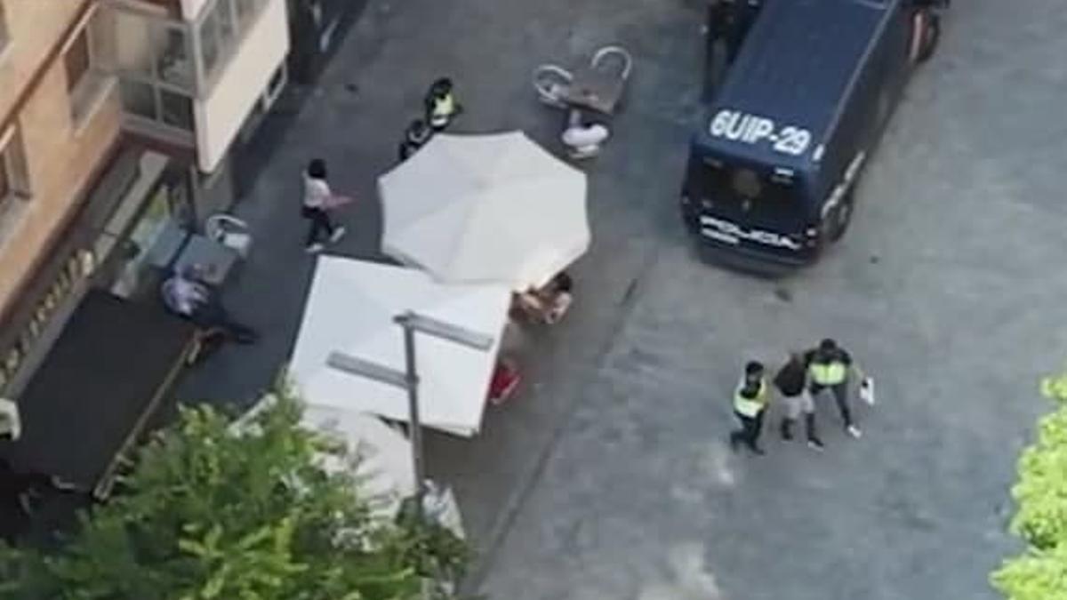 Imagen de una de las detenciones de la operación Yuca