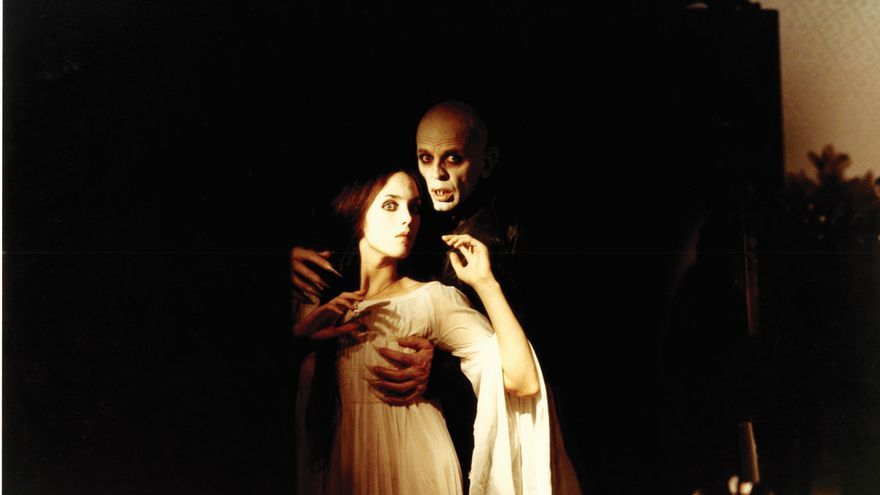 Isabel Adjani y Klaus Kinski en Nosferatu de Werner Herzog. Producción: Gaumont (France) / Werner Herzog Filmproduktion (Alemania), 1979