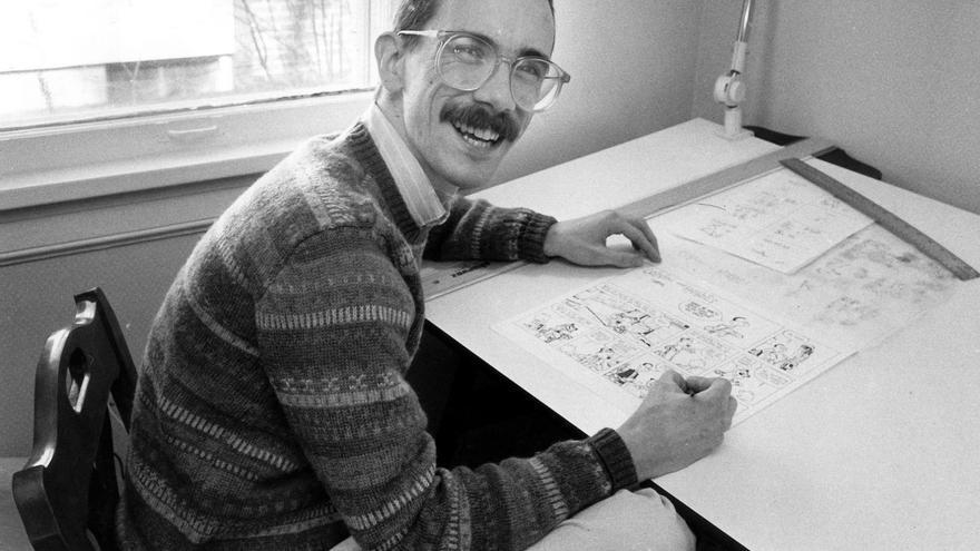 Bill Watterson en el último retrato oficial que se le conoce