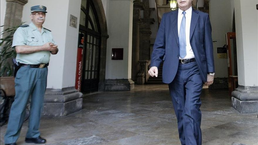 El exconseller Rafael Blasco, en el Tribunal Superior de Justicia.