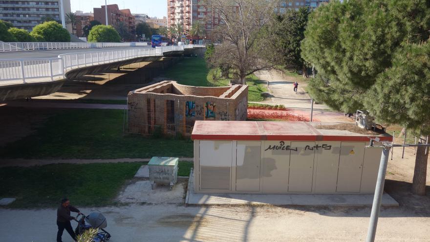 El antiguo cauce del río Túria a su paso por Valencia