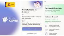 """""""Tu exposición al virus es baja"""": primeras imágenes de 'Radar COVID', la app española de rastreo de contagios"""