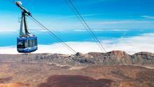 Cabina del teleférico del Teide, en el parque nacional