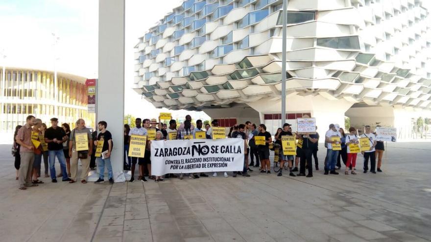 Protesta en la Ciudad de la Justicia de Zaragoza