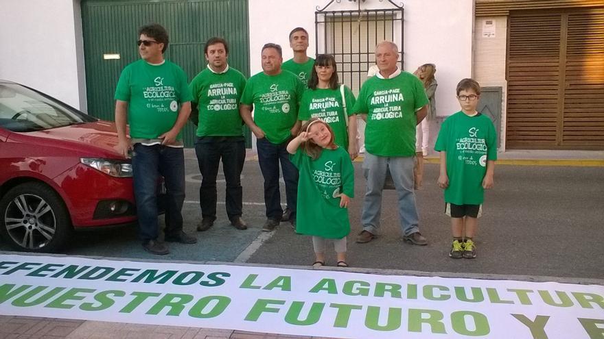 Siete agricultores ecológicos se desplazaron a Yuncos (Toledo)