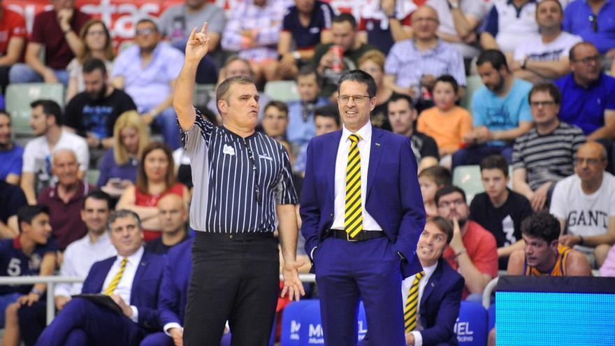 Pedro Martínez durante un encuentro de la pasada temporada