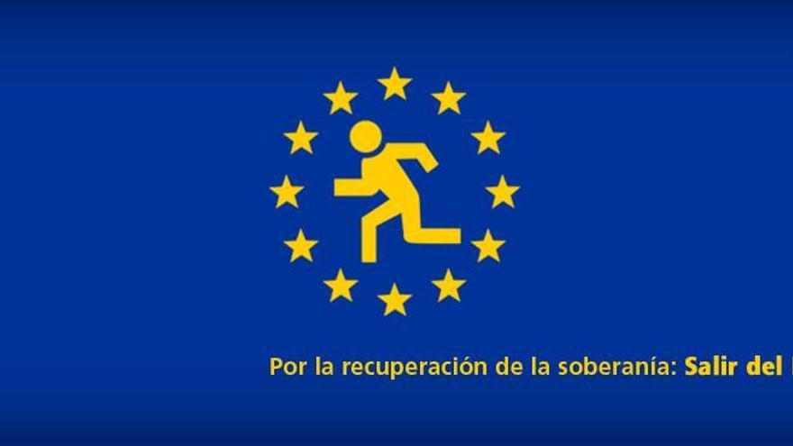 Imagen utilizada en la campaña de Frente Cívico que propone que España salga del euro.