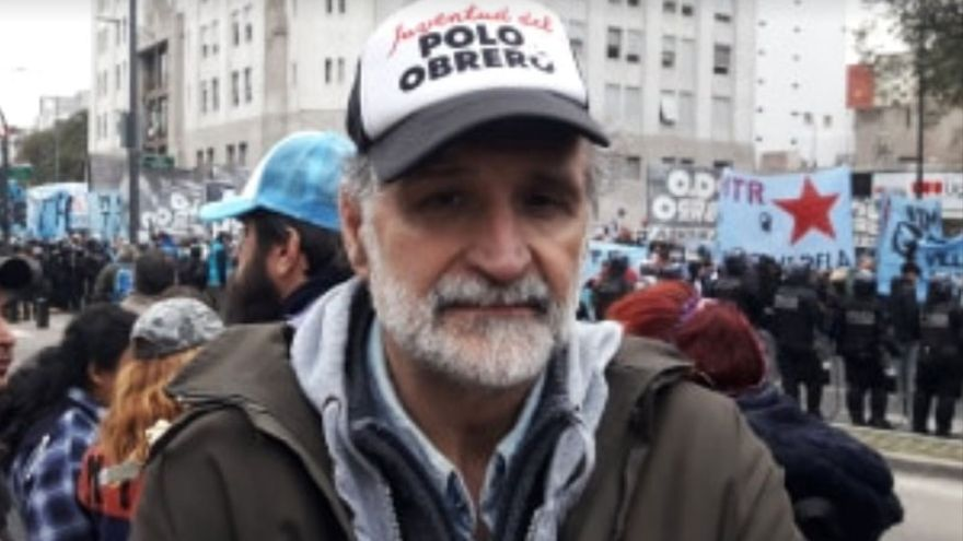 Belliboni, militante y vocero del Polo Obrero
