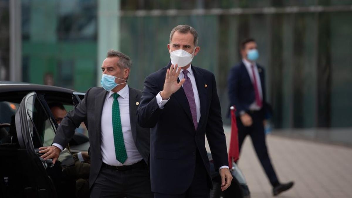 El rey a su llegada a un acto en Barcelona en junio.