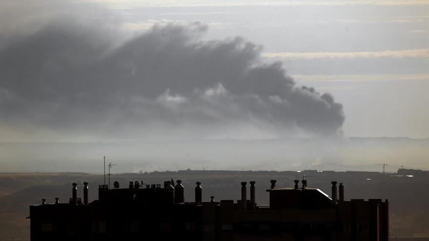 Declarado un incendio en una planta de reciclado de Guadalajara