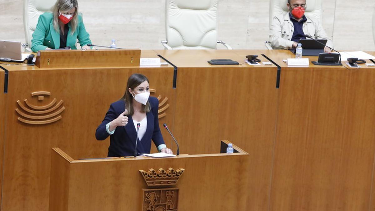 La portavoz del Grupo Parlamentario Socialista, Lara Garlito