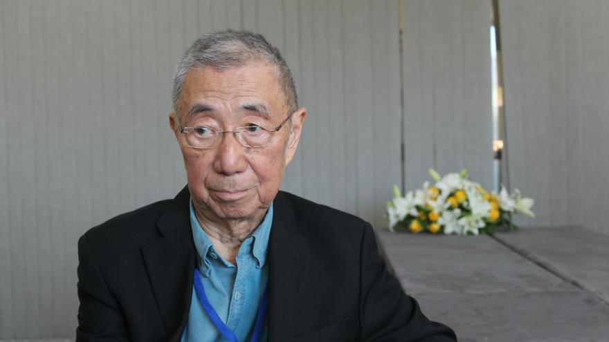 Samuel Ting, premio nobel de Física de 1976, en el Congreso AMS Days at La Palma. Crédito: Alejandra Rueda (IAC).