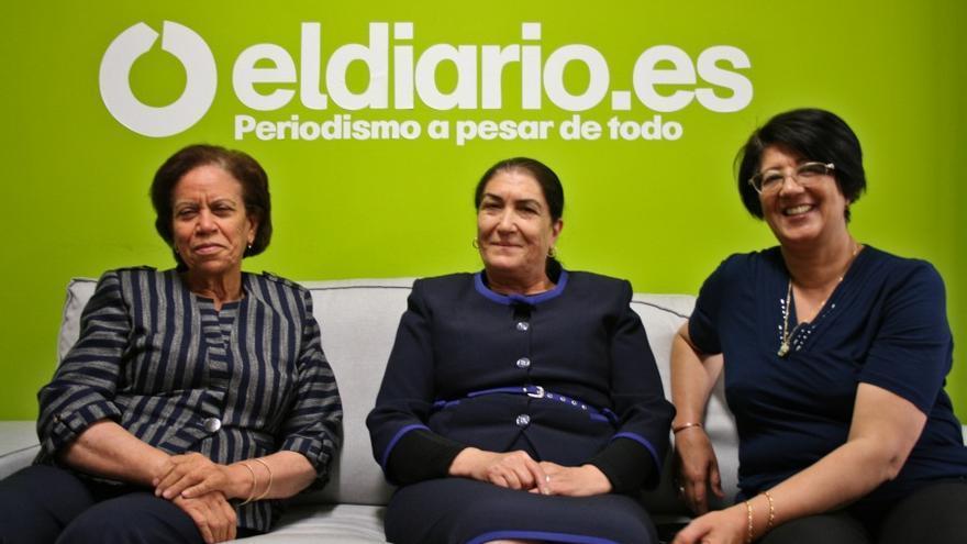 De izquierda a derecha: Salwa Kennou, Naima Hammami y Hakima Chrekani. / Bárbara D. Alarcón