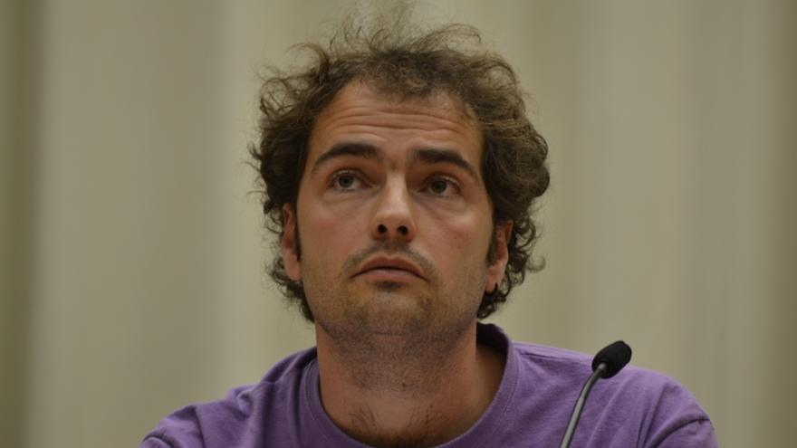 El responsable de servicios públicos del sindicato ELA en Navarra, Iván Giménez / Foto: cedida.