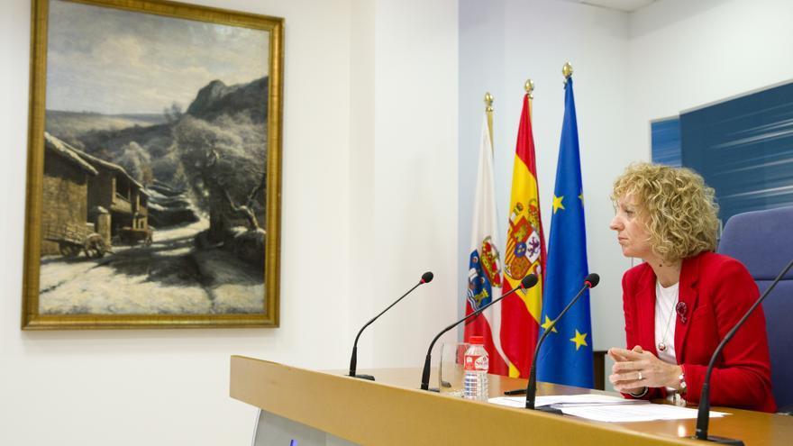 Eva Díaz Tezanos (PSOE) durante su intervención en rueda de prensa.
