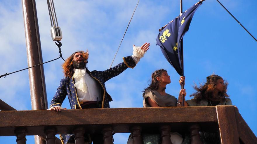 Los cosarios desembarcaron en La Alameda. Foto: JOSÉ AYUT.