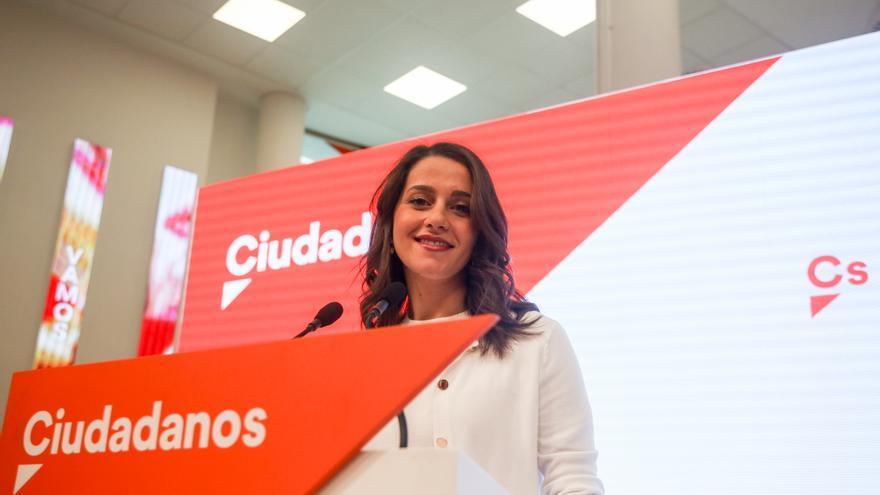 Inés Arrimadas, en la rueda de prensa posterior a la reunión de la dirección de Ciudadanos