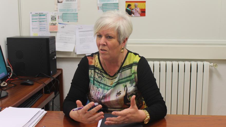 Blanca Rosa Gómez Morante, en su despacho en el Ayuntamiento de Torrelavega.