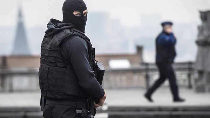 Fuerzas de seguridad desplegadas en Bruselas