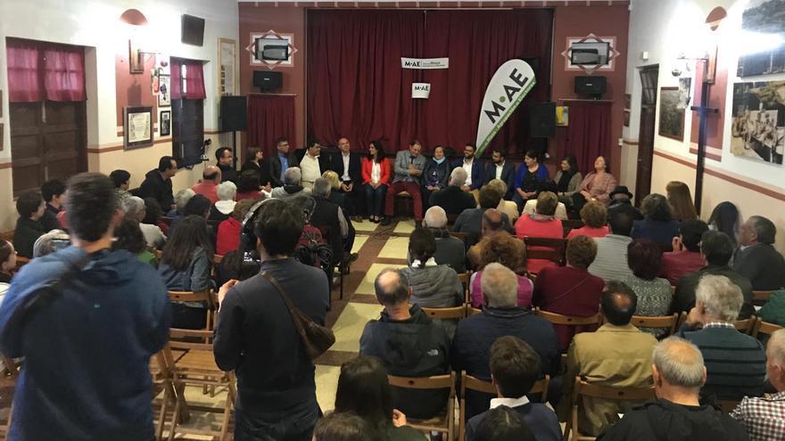 Acto de presentación de la Agrupación de Electores de Villa de Mazo.