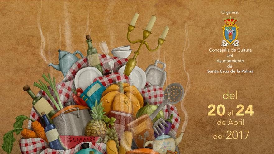 Cartel de la Feria del Libro con el Primer Festival de Cuentos de Santa Cruz de La Palma.