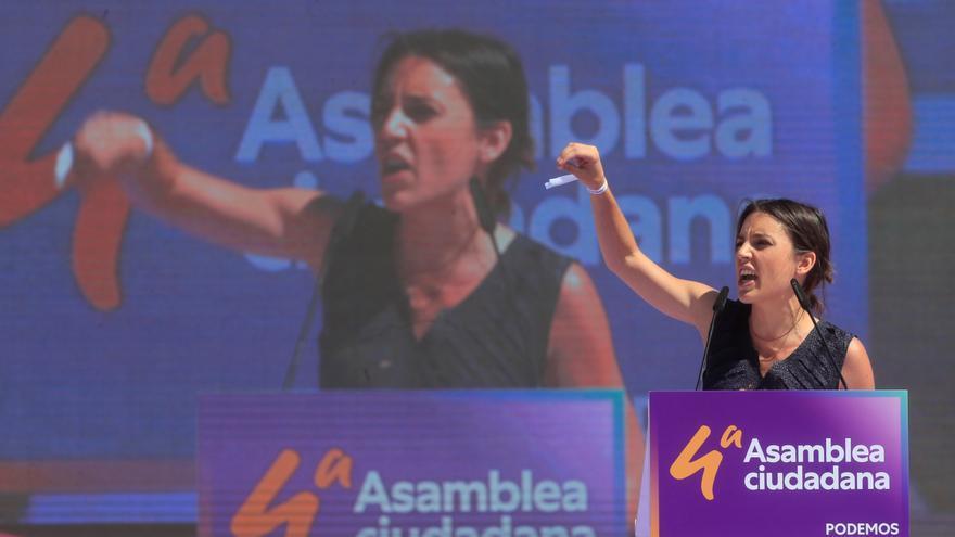 "Irene Montero llama a no bajar la guardia ante la ""alerta machista"""