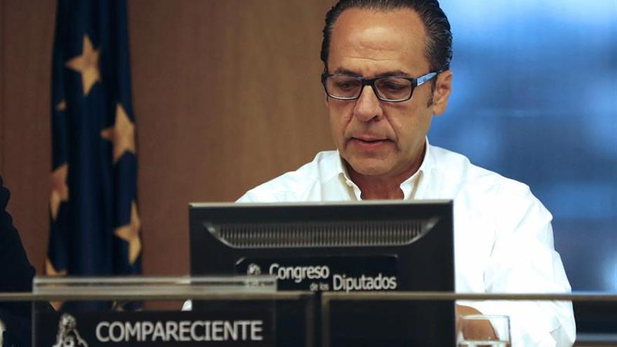 El responsable de Gürtel en la Comunidad Valenciana, Álvaro Pérez, 'El Bigotes', en el Congreso de los Diputados.