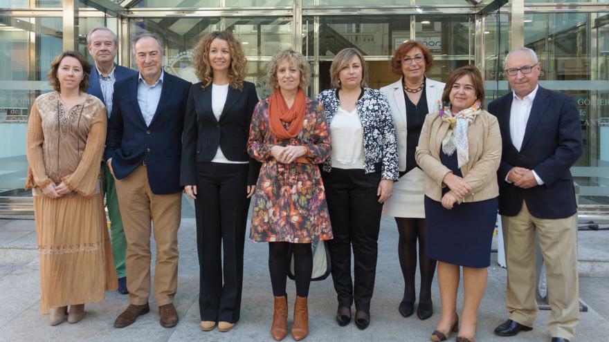Equipo directivo de la Consejería de Universidades e Investigación, Medio Ambiente y Política Social.